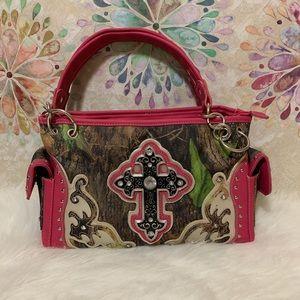 mélange posh Bags - Bright Pink Camo Bling Cross Purse